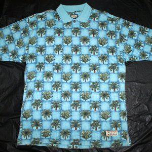 Tommy Bahama Mens Short Sleeve Palms Hawaiian Polo